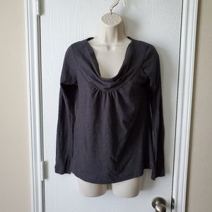 Theory Cowl Neck Top Blouse
